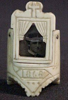 antique mourning ring . memorial ring 1868