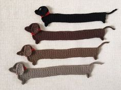 Crochet Dauchshund Bookmark Funny Dog bookmark Handmade cute
