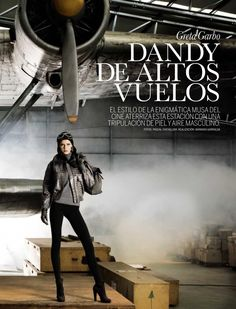 Greta Garbo, Dandy De Altos Vuelos | Flavia de Oliveira | Pascal Chevallier #photography | Elle Spain September 2009