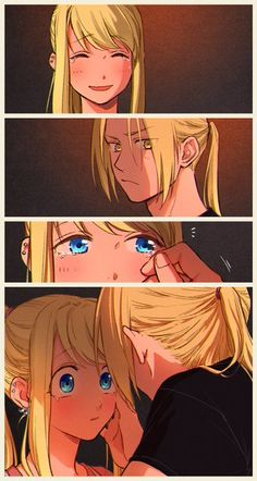 Read FMA 46 from the story Momos y Wallpapers de FMA 4 by with reads. Fullmetal Alchemist Brotherhood, Fullmetal Alchemist Mustang, Fullmetal Alchemist Edward, Couple Anime Manga, Anime Love Couple, Cute Anime Couples, Manga Anime, Winry And Edward, Ed And Winry