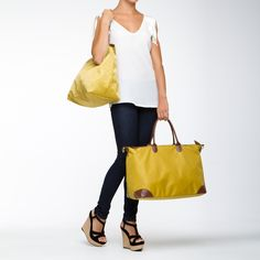 Tote Couture - What a cute day-bag! Take these durable bags with on your next day trip or extended vacay! I love the color