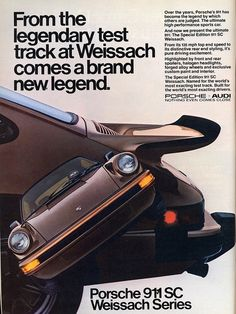 Porsche 911 SC Weissach Edition Advertisement. #porsche911sc #911sc