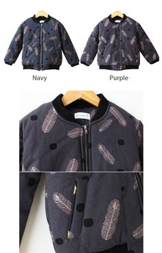 Feathers Bomber Jacket for boys and girls 1-6. Cool kids fashion, play ready style at Color Me WHIMSY.