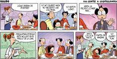 Pedir en el restaurante con cómics