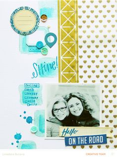 Tips & tricks for using the ink dauber from our Camelot scrapbook kit with Loredana Bucaria @Studio_Calico #SCcamelot