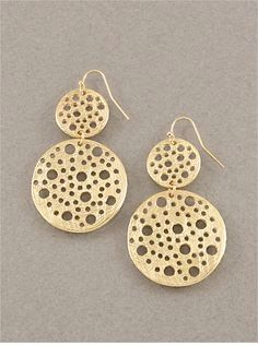 Jerry gold cheese earrings
