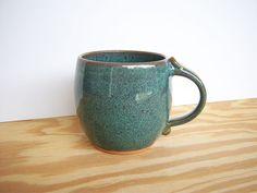 Coffee Cup Stoneware in Sea Mist Glaze  Single by dorothydomingo