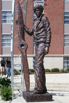 Amelia Earhart sculpture in West Lafayette, Indiana.