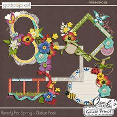 Ready For Spring - Digital Scrapbook Cluster Pack. $2.99 at Gotta Pixel. www.gottapixel.net/