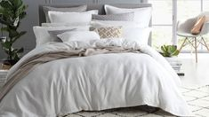 Fitzroy White Super King Quilt Cover Set