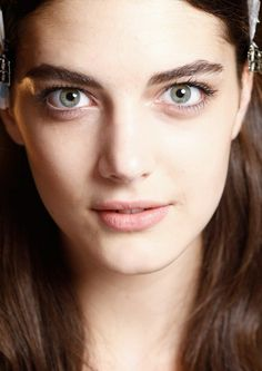 Totally Neutral Makeup  Eyes, Cheek & Lips  No Makeup Trend for Spring Summer 2013.  Narciso Rodriguez Spring Summer 2013.  #makeup #trend