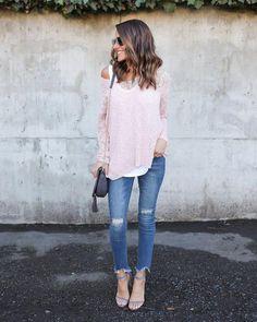 Babette Knit Sweater - Blush