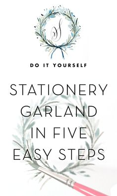 How To: Stationery Garland in 5 Easy Steps