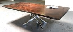 The Work | Bjorling Grant #wood #dining #table #modern #industrial
