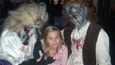 Emma with her new friends. Fright Fest @ Six Flags