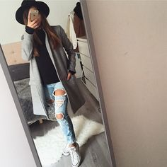 Todays look ootd outfitbook Pull, manteau, Jean www.outfitbook.fr
