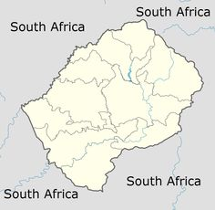 Which country is the closest to you? Lesotho edition.