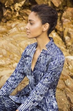 Banana Republic x @pieceandco. Piece & Co. is empowering communities around the world, and making materials of unmatched beauty and heritage, and we are partnering with them on a capsule collection. A favorite piece: this Batik Belted Blazer, which looks beautiful worn over a solid bottom, and equally good over the matching Avery fit pant.