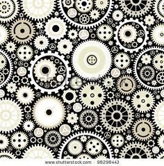Printed vinyl floor? Seamless Background Consisting Of Bright Gears And Arrows.The Concept Of Motion Stock Vector 98298443 : Shutterstock