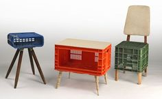 plastic box table upcycled - Google Search