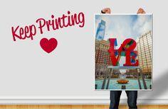 Keep Printing Love // Realizzazione artwork, Landing Page, Campagna di annunci online