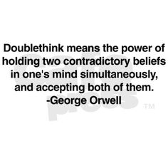 "Doublethink: a concept from Orwell's ""1984"""