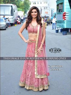 82cf565fa9 Karishma Tanna Peach Color Lehenga Choli.buy now place your order on  whatsapp