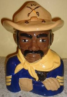 Amazing African American Black Americana Buffelo Soldier cookie jar.Taken by Jazz'e Junque in Chicago www.jazzejunque.com