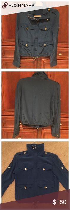 Scanlan & Theodore Silk Jacket Scanlan & Theodore silk jacket , this is a extremely light weight jacket size is 8 , it's in nice condition , it might run s bit small, as I am a XS to S and u got away with it , I do tend to like things a little oversized No Trades! Scanlan & Theodore  Jackets & Coats