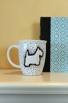 Hand-painted Scottish Terrier Scottie Mug by elhdesign77 on Etsy