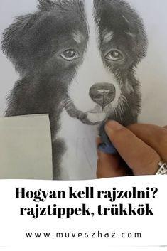 Hogyan kell rajzolni? – rajztippek, trükkök HOGYAN KÉSZÜLT? Csak ceruza-rajzolás-idő-és pár trükk.Eláruljuk, kattints,és olvasd el. Acrylic Pouring, Dogs, Animals, Animales, Animaux, Pet Dogs, Doggies, Animal, Animais