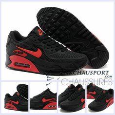 Nike Air Max 90 L'Été | Meilleur Chaussures Running Homme Noir Rouge