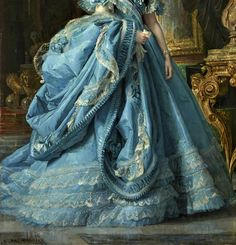 Isabel of Bourbon by Vicente Palmaroli  - Click to enlarge #OilPaintingClassic