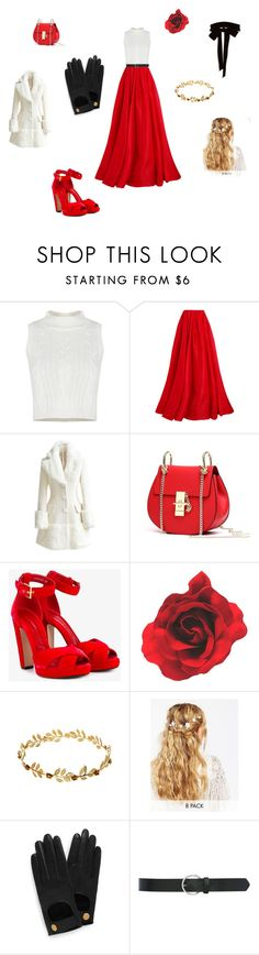 """Red white and black beauty 2"" by jbrown58 ❤ liked on Polyvore featuring Reem Acra, WithChic, Alexander McQueen, ASOS, Mulberry, M&Co and Monique Lhuillier"
