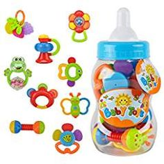 Baby Rattle Teether Toy Set. ** Read more  at the image link. We are a participant in the Amazon Services LLC Associates Program, an affiliate advertising program designed to provide a means for us to earn fees by linking to Amazon.com and affiliated sites.