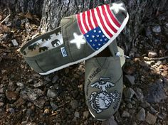 Instead of Marines have the Navy Anchor and the Toms in Navy Blue ...