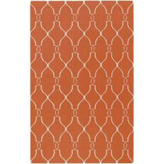 Surya Jill Rosenwald Coral 8 ft. x 11 ft. Flatweave Area Rug-FAL1002-811 at The Home Depot