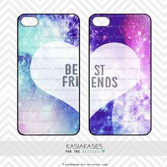 Galaxy Case / Best Friends iPhone 4 Case Pattern iPhone 5 Case iPhone 4S Case iPhone 5S Case One For Your BFF Set Phone Case by KasiaKases on Etsy https://www.etsy.com/listing/169734569/galaxy-case-best-friends-iphone-4-case
