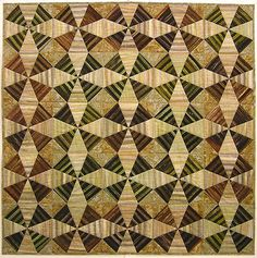 Lovely free quilt pattern from Robert Kaufmann fabrics that can look different if the blocks are laid out differently.