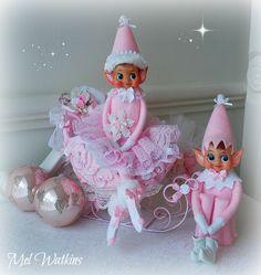 Girlie vtg pixie vintage christmas pinterest deko for Weihnachtshirsch deko