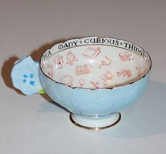 Paragon Fortune Telling Tea Cup With Flower Handle. Exceptional Rarity