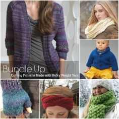 Bundle Up: 35 Free Knitting Patterns Made with Bulky Weight Yarn