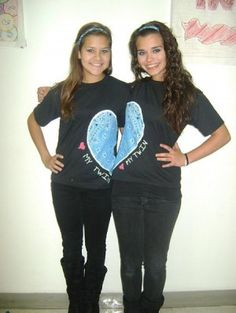 Twin Day-LOVE this idea! I just need someone to do this with..