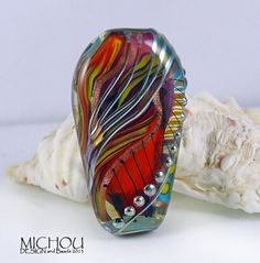 Luminous flame Lampwork bead by Michou P Anderson by michoudesign, $89.00