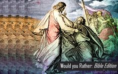 Would You Rather: Bible Edition Sunday School Activities, Youth Activities, Church Activities, Sunday School Lessons, Sunday School Crafts, Church Youth Games, Kids Church, Fun Group Games, Games To Play With Kids
