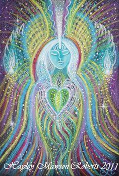Angel of Sacred Prayer- Original artwork by Visionary Artist Hayley Mawson Roberts