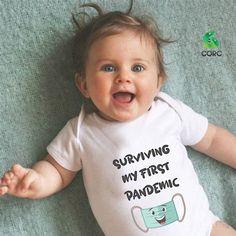 Έχω περάσει και μια καραντίνα...Εντάξει ? Baby Bodysuit, Onesies, Face, Kids, Children, Boys, Babies Clothes, Rompers, Babies
