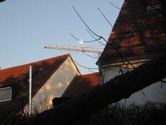 Ulm 10.03.2017: Vista desde mi ventana, dia del funeral de mi tia Isabella que murio el 03.03.2017