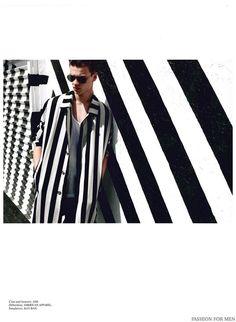 Filip Hrivnak Dons Striped Styles in Fashion For Men