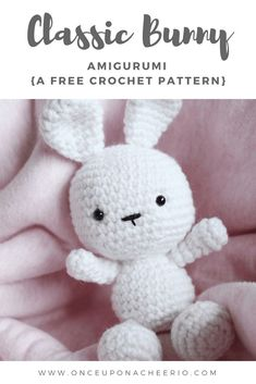 This amigurumi bunny has its head and body worked together as one piece to reduce a sewing step. Perfect for a first time amigurumi. Valentine's Day gift. Easter gift. Easter Bunny. Free crochet pattern. Easter Crochet Patterns, Crochet Bunny Pattern, Crochet Amigurumi Free Patterns, Cute Crochet, Crochet Crafts, Crochet Projects, Crochet Food, Crotchet, Creations